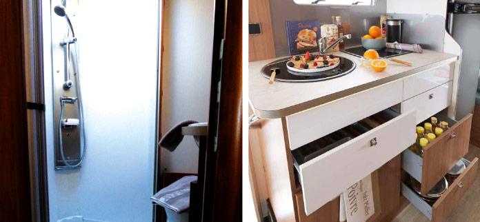 MotorHome Rent Intérieur Camping-car Capucine Premium 2018 CN