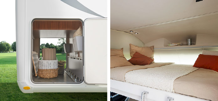 MotorHome Rent Intérieur Camping-car Intégral Premium 2018 IN