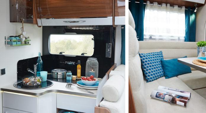 MotorHome Rent Intérieur Camping-car Profile Premium 2018_PPN