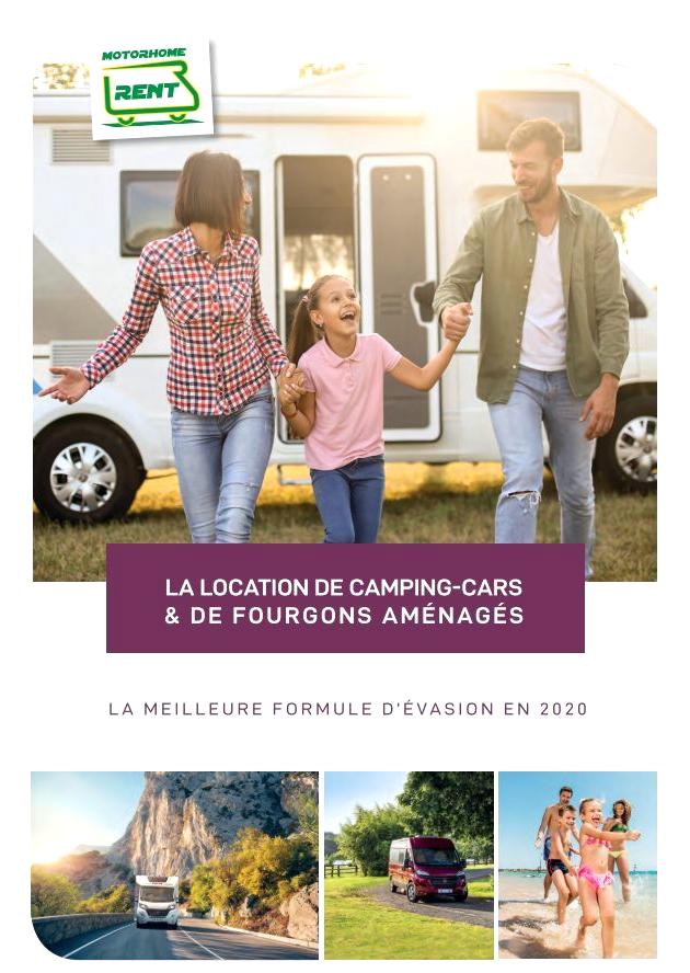 Brochure Motorhomerent 2020 : location de camping-cars et fourgons aménagés