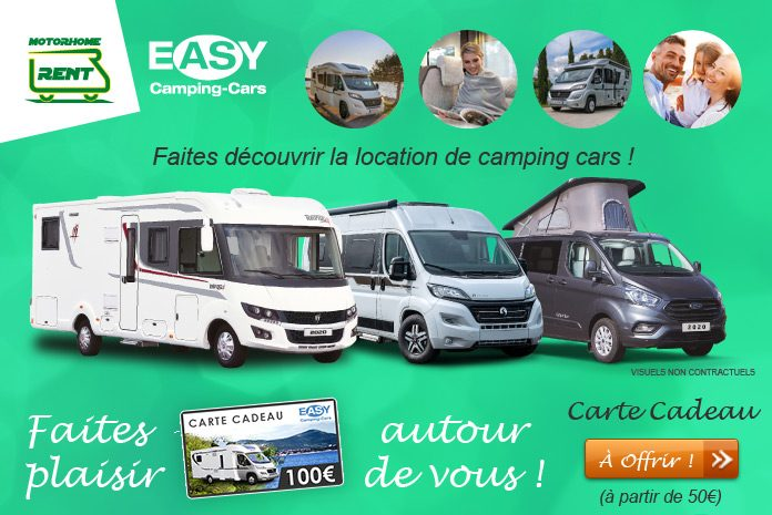 Carte cadeau MotorHomeRent - location de camping cars et de fourgons aménagés